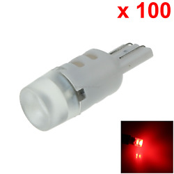 100x Red Rv T10 W5w Reverse Light Backup Bulb 3 1206 Smd Led 184 192 193 A090