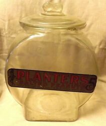 C.1920 Planters Peanuts Store Counter Jar Large 5 Cent Bag Lunch