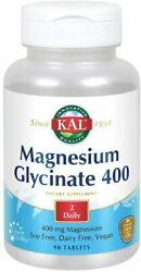 Kal Magnesium Glycinate 400 | For Relaxation And Healthy Muscle | 90 Tablets
