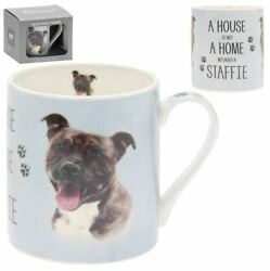 Staffordshire Bull Terrier Dog A House is not a Home Without a Staffie Mug Boxed