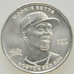 2018 1 Oz Fine .999 Silver Mookie Betts Boston Red Sox Treasure Coin Medal Round