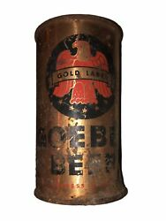 Goebel Flat Top Beer Can Gold Label Opening Instructions Irtp