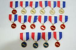 Cub Scout Set Of 15 Derby Race Car Pin Badges 5 White 8 Red And 3 Blue