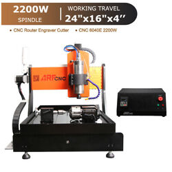 Cnc 6040e 2.2kw 4axis Engraving Machine With Water Cooling Systemandlinear Guide
