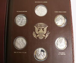 The John F. Kennedy Commemorative 36 Medals Set Lincoln Mint 1971 Sterling