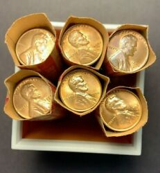 Lot Of 1940-1958 Pandd Lincoln Wheat Cent Rolls Au/bu - Rb Red Brown 300 Wheats