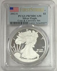 2012 S Silver Eagle Coins And Currency Set First Strike Pcgs Pr70dcam