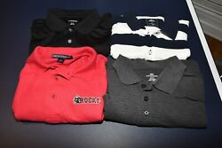 Lot Of 4 Men's Large Golf Polo Shirts George Modern Port Authority Dockers