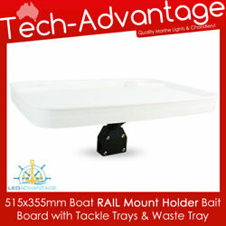 Bow Rail Mount Boat Fishing Cutting Bait Board Recess Tackle/bait/waste Trays