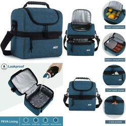 Mier Lunch Box Insulated Lunch Bag Large Cooler Tote Bag For Men Women Double $31.15