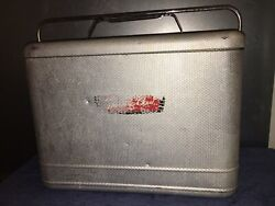 Vintage Knapp Monarch Therm-a-chest Aluminum Cooler With Sealing Lid 1960s