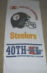 Pittsburgh Steelers Oversized Terrible Towel 2005 Afc Champions Super Bowl Xl