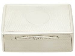 Antique Victorian Sterling Silver Table Snuff Box