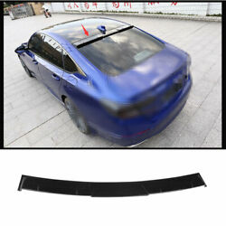 For Honda Accord 10th 2018-2020 Painted Roof Spoiler Tail Lip Wing Bar Abs Black