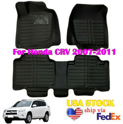 Fit For Toyota Rav4 2007-2011 Floor Mats Leather Cover Pads Non-silp Waterproof