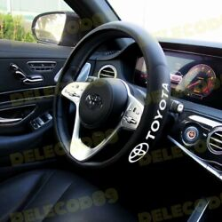 New Faux Leather For TOYOTA New Black 15quot; Diameter Car Auto Steering Wheel Cover $26.72