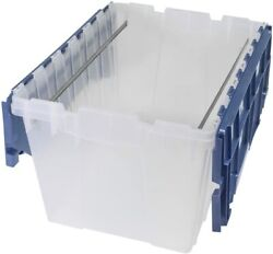 Akro-mils Plastic Storage Container 12 Gallon Keepbox File Box With Hinged