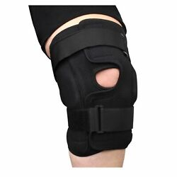 Plus Size Deluxe Hinged Knee Brace With Compression Wrap For Big And Wide Thighs