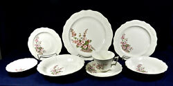 67-piece Set Of Thompson Pottery Thp12 Pattern Pink Floral Spray China