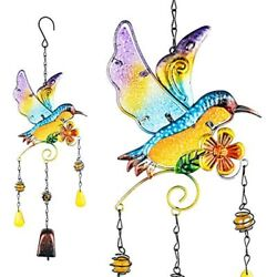 Promise Yo Hummingbird Wind Chimes Bells, Outdoor Windchimes Indoor Stained Lawn