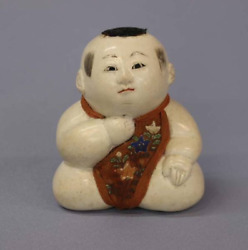 Japanese Tradition Antique Edo Period 御所人形 Gosho Doll Very Rare 3.9 In Japan Y