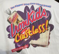 Vintage IRON KIDS Crustless Bread T Shirt Hanes X Large 100% Cotton