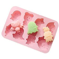 Halloween Silicone Baking Molds, Candy Chocolate Gummy 8-cavity Non-stick Diy 8