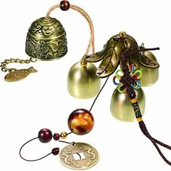 Jetec 2 Pieces Lucky Wind Chimes Feng Shui Bell Vintage Dragon Hanging For Good