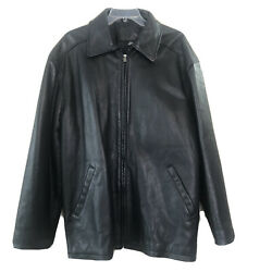 Men's Jim Beam Branded Leather Jacket Size Xl Symax Garment Co. Canadian