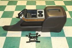 14-18 Sierra Crew Cocoa Leather Center Console Armrest Storage Compartment Oem