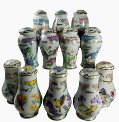 Lot 12 Lenox Birds And Blossoms Spice Jars 1994 Used