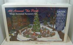 New Sealed Vintage Department 56 All Around The Park Village Animated 5247-7