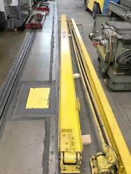 1/2 Ton 20 Ft Abell Howe Wall Mount Jib Crane With Pandh Cable Hoist