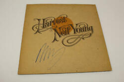 Neil Young Signed Autograph Album Vinyl Record - Harvest Csny, Crazy Horse Real