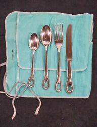 And Co. 1984 Elsa Peretti 4 Piece Padova Place Setting Solid Sterling .925