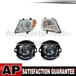 Tyc Headlight Assembly Fog Light Assembly Left Right 4x For Nissan Frontier