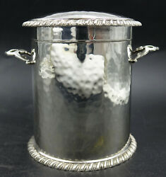 Magnificent English Sterling Silver Tea Caddy By Charles Edwards Of London 1903