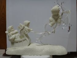 Dept 56 Snowbabies Up Into The Stars Sleigh Reindeer Flying Christmas 2001