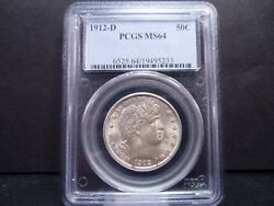1912-d Ms64 Barber Half Dollar Pcgs Certified - Stunning Example