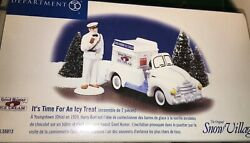 Department 56 Snow Village It's Time For An Icy Treat Good Humor Ice Cream 55013