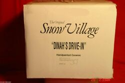 Department 56 Snow Village Dinah's Drive-in 54470 1996 Retired