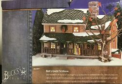 Department 56 Snow Village Buck's County Farm House Retired 2002 55051