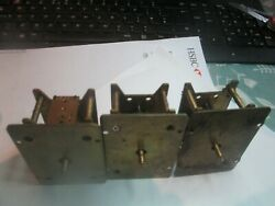 3 All Davall Vintage  Clock Movements Small