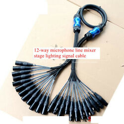 12-way Microphone Line Mixer Stage Lighting Signal Cable Cannon Cable Hifi