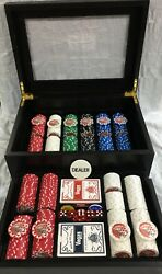 Las Vegas Classics Poker Set With Dice Cards And Chips With Case