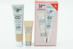 It Cosmetics CC Cream in LIGHT 5ml amp; Confidence in a Gel Lotion 5ml 🦋