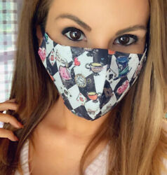 Alice In Wonderland Cheshire Cat Face Mask Facemask Mad Hatter Rabbit Disney