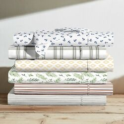 Brielle Home 100 Cotton Printed Percale Sheet Sets
