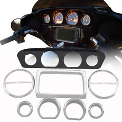Stereo Accent Trim Ring Set For Harley Touring Electra Street Glide 2014-later