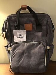 HaloVa Love And Care Designed For Baby Since 1990 Backpack Diaper Bag $25.00